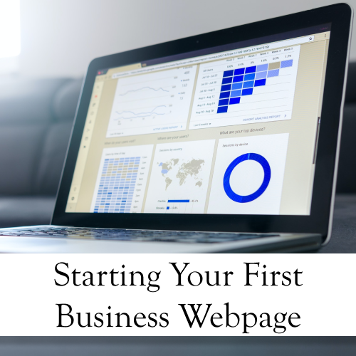 Starting Your First Business Webpage