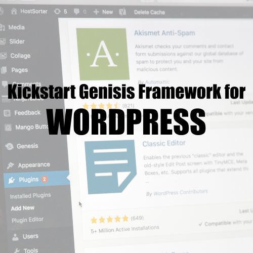 Kickstart Genesis Framework For WordPress